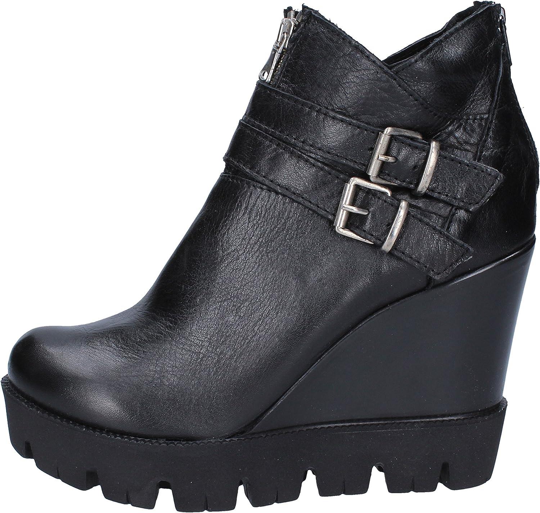 COREY ALLEN Boots Womens Leather Black