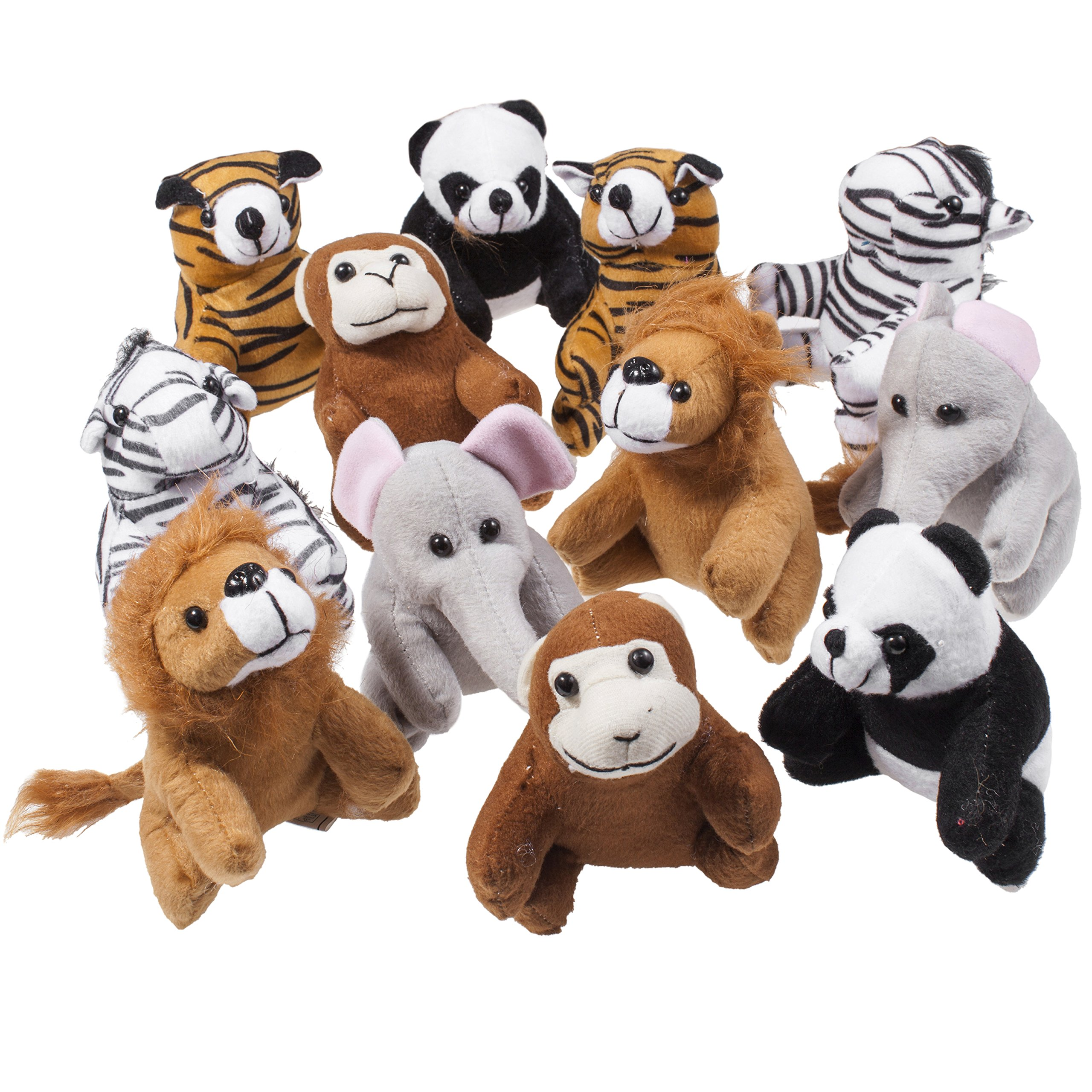 Set Of Dog Stuffed Animals, Amazon Com Ay Smart Inc Stuffed Toy Set Of 12 Plush Animals Includes A Plushed Bear Lion Monkey And Much More Toys Games