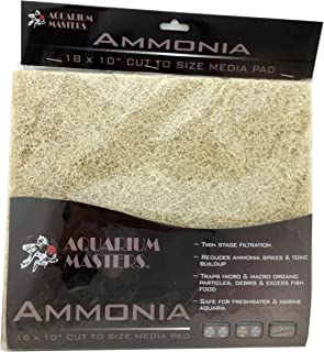 Professional Ammonia Remover Pad, 18 Inch by 10 Inch for Fresh Water & Saltwater Aquariums, Aquaculture, Terrariums & Hydroponics