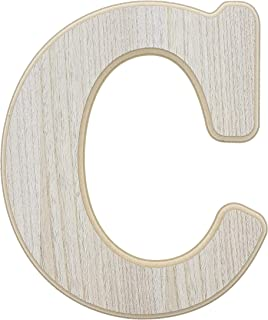 Unfinished Wood Letter C Cutout for DIY Painting, Crafts, and Wall Decor, 10 x .5 x 12 Inches