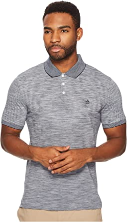 Short Sleeve Slub Stripe Polo