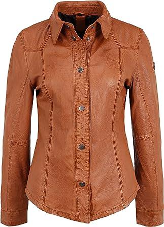 Gipsy Camisa de piel para mujer GGShirt LDRV con botones de presión
