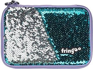 Estuche de lápices con lentejuelas reversibles de FRINGOO®, tapa dura, múltiples compartimentos, organizador de papelería para el colegio, color Hologram Large