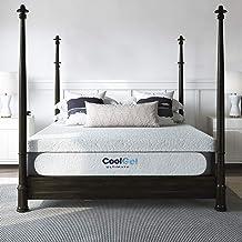 Classic Brands Cool Gel 1.0 Ultimate Gel Memory Foam 14-Inch Mattress with BONUS 2 Pillows , Queen, White