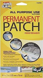 Super Glue Permanent Reinforced Polyester Fiberglass Patch #15298,Black