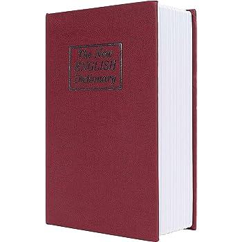 Caja de Seguridad Libro Estilo Diccionario Inglés Portátil Combinación de 3 Dígitos Código de Bloqueo Acero Rojo: Amazon.es: Industria, empresas y ciencia