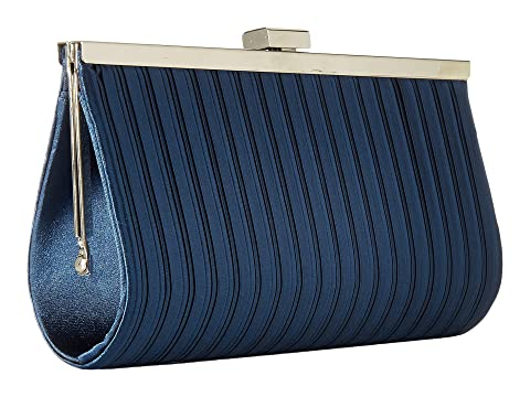 Discount Shop Offer Buy Cheap Explore Jessica McClintock Laura Pleated Satin Framed Clutch Navy Discount 2018 Unisex Wholesale Price Cheap Price For Sale Wholesale Price Vz6uL0kyEN