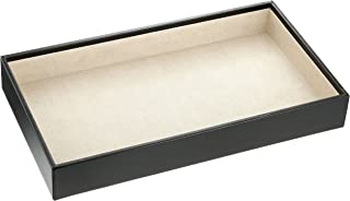 Wolf Designs 435002 Vault Series Deep Jewelry Tray, Black