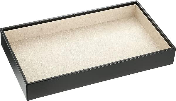 Wolf Designs 435002 Vault Series Deep Jewelry Tray Black