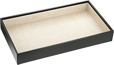 WOLF 435002 Deep Jewelry Tray, Black