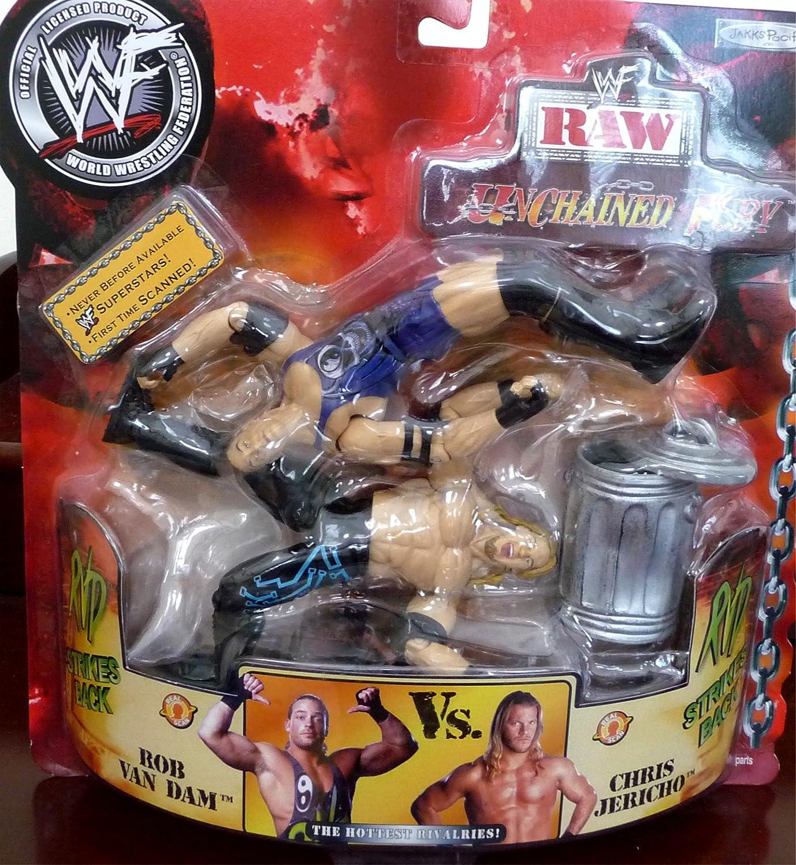 ROB VAN DAM RVD vs. Chris Jericho WWE WWF RAW Unchained Fury Figuren by Jakks Pacific