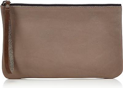 PIECES Color SIA Leather Clutch 17048500 Damen Clutches 22x13x1 cm (B x H x T)