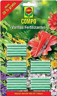 Compo Varitas fertilizantes para plantas de interior y exterior, adecuada duración de hasta 3 meses, 30 unidades, 24.3x14.4x0.5 cm, 1205002011