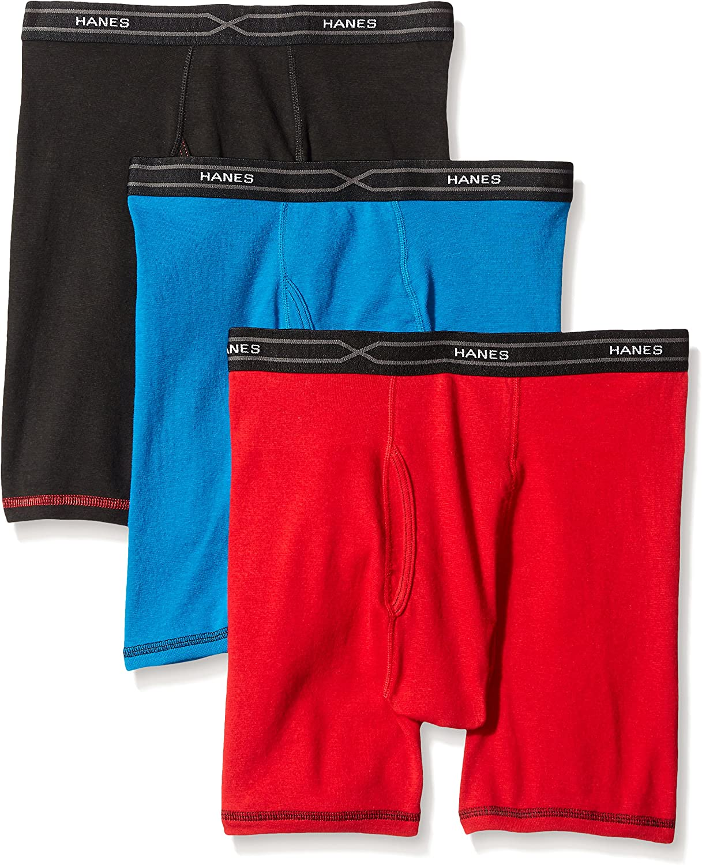 Hanes Men's TAGLESS X-Temp153; Boxer Briefs with Comfort Flex Waistband Assorted 2X 3-Pack