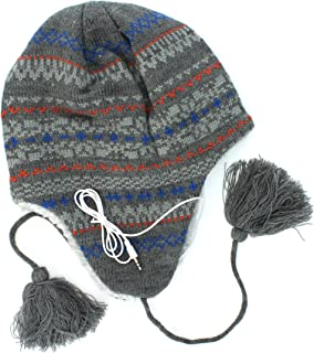 8f4afdbc463 URBAN PIPELINE Gray Peruvian Headphones Beanie for Men - One Size