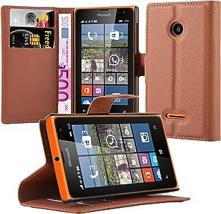 Cadorabo Fodral kompatibelt med Nokia Lumia 530 i CHOKLAD BRUN - Skyddsfodral med Magnetfäste, Stativfunktion och Kortplat...