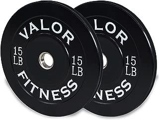Valor Fitness BP-15 Bumper Plates 15lb (set of 2)