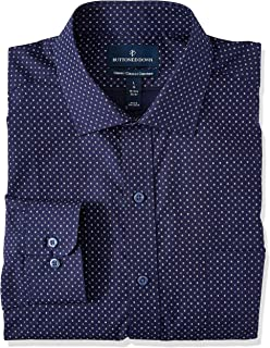Buttoned Down Mens Classic Fit Spread-Collar Pattern