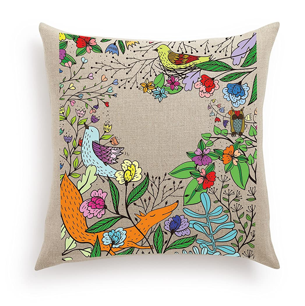 Haute Art Designs Decorative DIY Pillow Cover with 12 Paint Tubes and Brush - Enchanted Forest