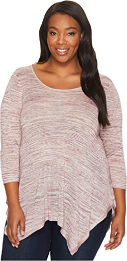B Collection by Bobeau - Plus Size Langley Spacedye Knit Top