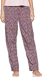 Jockey RX02-0103-Purple wine/S Women's Woven Long Pants, Small, Purple Wine
