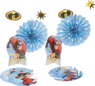 "Amscan 280091 Disney©/Pixar ""Incredibles 2"" Room Decorating Kit, 1 kit, Birthday"