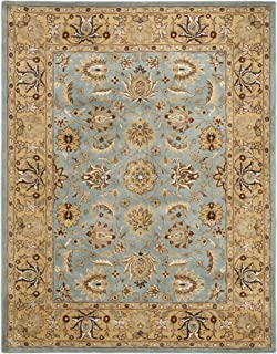 Safavieh Heritage Collection HG958A Handcrafted Traditional Oriental Blue and Gold Wool Area Rug (11' x 17')
