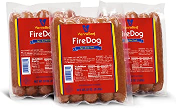 "Vienna® Beef FireDog Spicy Jumbo Franks 6"" 6:1 2 lbs. each (3 Pack)"