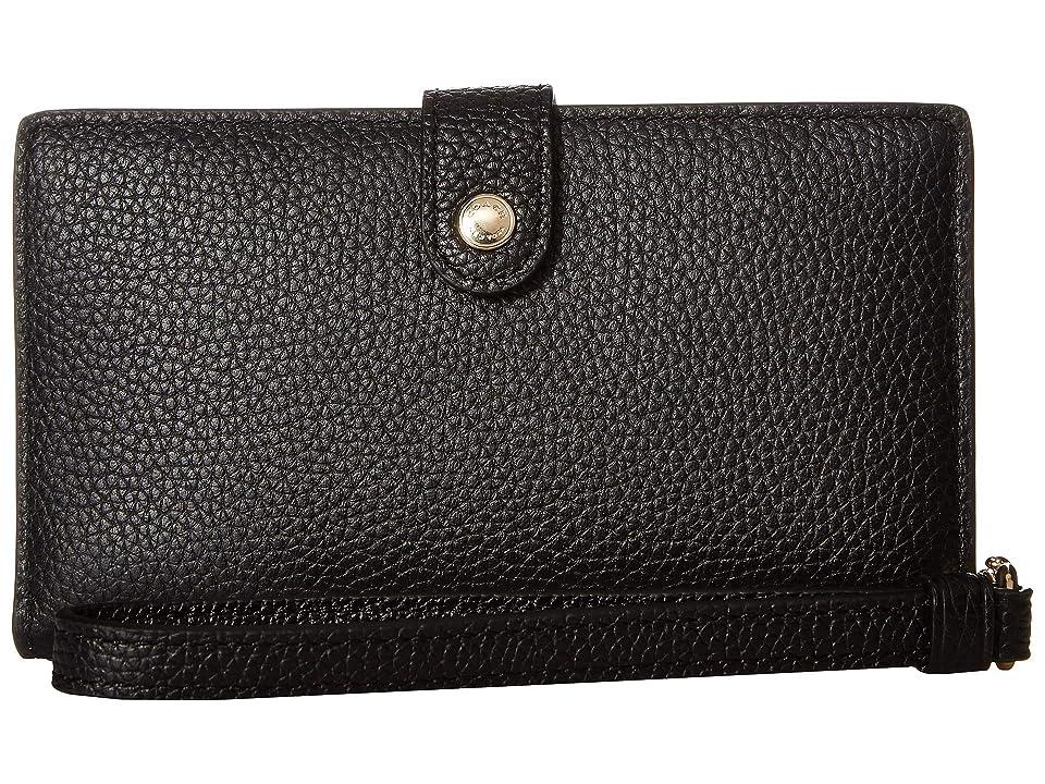 COACH Boxed Phone Wristlet (LI/Black) Wristlet Handbags