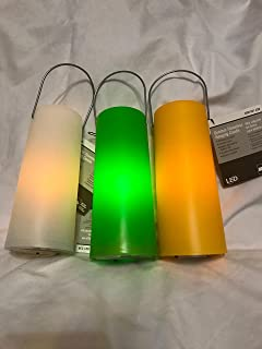 7 in. Flickering Assorted LED Plastic Lantern
