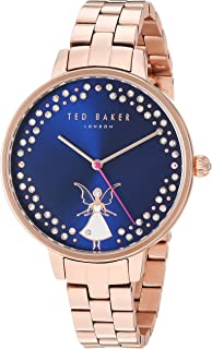 Ted Baker Women's Kate Quartz Watch with Stainless-Steel Strap, Rose Gold, 12 (Model: TE50005002)