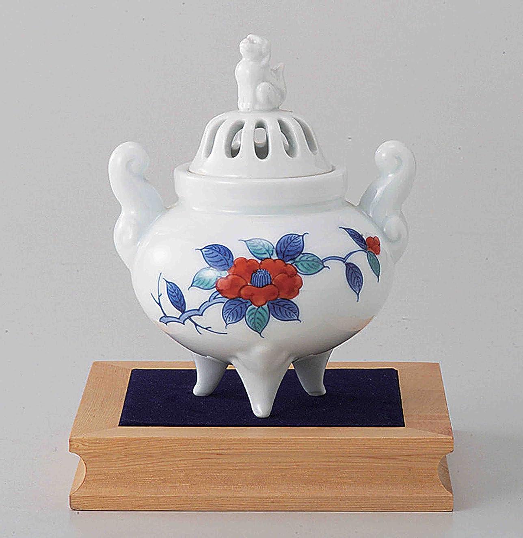 蛾率直なメタン東京抹茶Selection?–?Arita Porcelain Cencer : Camellia?–?Incense BurnerホルダーWベース&ボックス日本から[ EMSで発送標準: withトラッキング&保険]