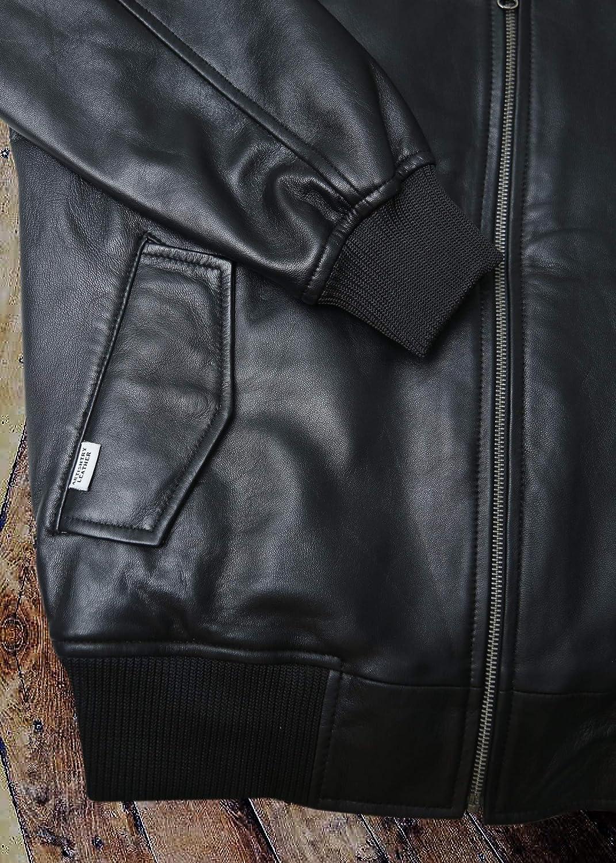 Varsity Bomber Leather Jacket Men Genuine Lambskin Baseball Flight Jacket