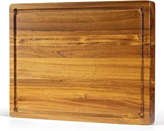 16x12x1.5 With Juice Groove Large Reversible Thick Acacia Wood Cutting Board