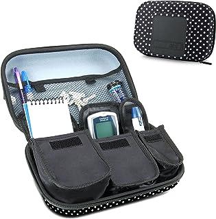 USA GEAR Organizador de Medicamentos de Viaje para Suministros para Diabéticos - Asimientos Sistema de Monitoreo de Glucosa, Jeringas, Viales de Insulina, Lancetas y más - Lunares
