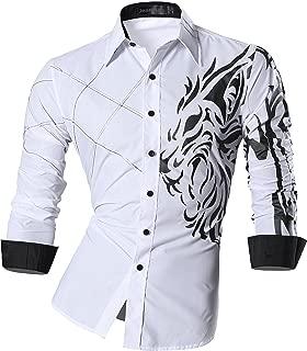 Men's Slim Fit Long Sleeves Casual Fashion Shirts 2028