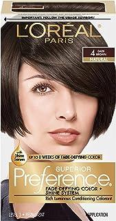 L'Oréal Paris Superior Preference Fade-Defying + Shine Permanent Hair Color, 4 Dark Brown (1 Kit) Hair Dye