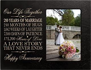 4x6 Inch Wood Picture Frame CustomGiftsNow 10th Anniversary Great for friends parents and family