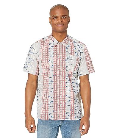 Columbia Trollers Besttm S/S Shirt (Cool Grey Vertical Fish) Men