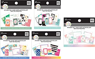 me & My Big Ideas The Happy Planner Tiny Sticker Pad Value Pack: Lovely Pastel, Bold and Bright, Make Things Happen, Fun Florals, Holidays & Seasons (Set of 5)