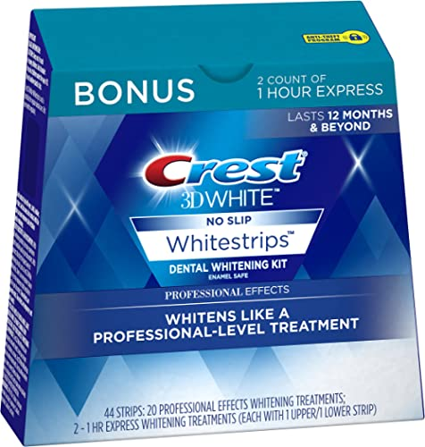 Crest 3D White Professional Effects Whitestrips 20 Treatments + Crest 3D White 1 Hour Express Whitestrips 2 Treatment...