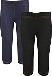 Girls Capri 3/4 Jeggings(6-12 Month to 15-16 Years) - Pack of 2