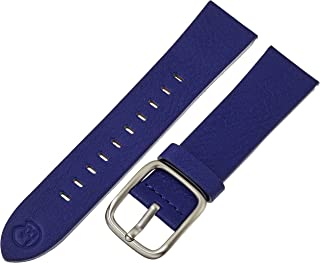 b&nd by Hadley Roma with MODE 22mm Leather Calfskin Blue Watch Strap