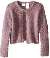 Kardashian Kids - Sequin Eyelash Cardigan with Sequin (Toddler/Little Kids)