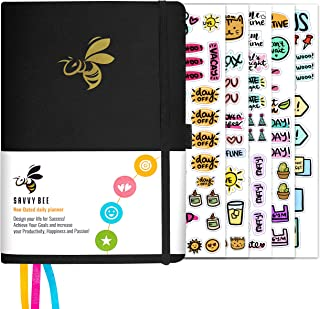 Savvy Bee Undated Planner – Monthly, Weekly, & Daily Planner to Achieve Goals, Set Plans, Increase Productivity & Self Mas...