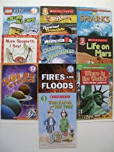 Scholastic Readers L1, 2, 3 (Set of 10) Calling All Cars, Tunnel Trouble, Amazing Dolphins, Sharks, Life on Mars, Solar System, Fires and Floods, Where in the World, Even Steven Odd Todd