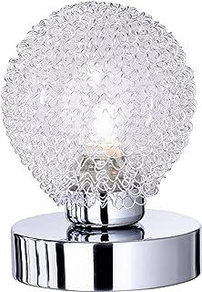 Reality R59321106 Wire - Sobremesa, bombilla incluida, G9, Halógeno, 28 W, 370 lm, 2800 K, 230 V, C, IP20, alto 13.5 cm, diámetro 10 cm, metal, cromo