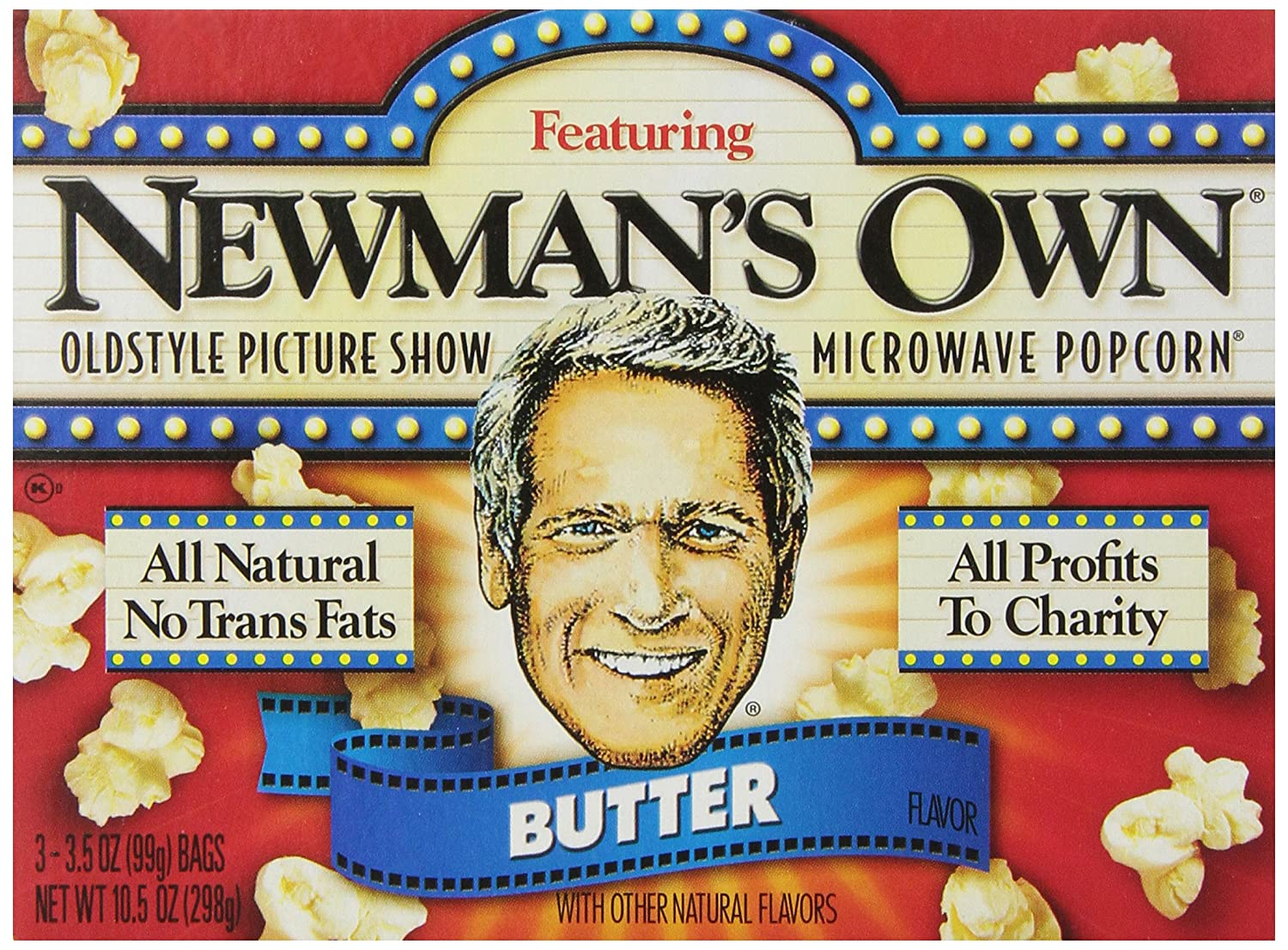 Newman's Own Old Style 35% OFF Picture Butter 3 In stock Microwave Show Popcorn