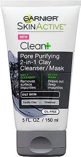 Garnier SkinActive Men's Pore Purifying Charcoal Face Wash & Mask, 5 fl. oz.