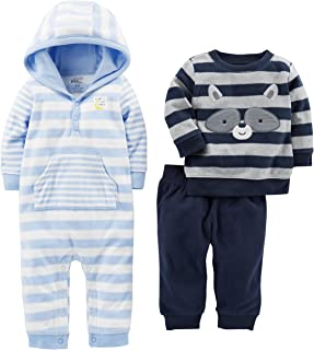 Baby Boys' 3-Piece Fleece Playwear Set - Fleece Hooded...